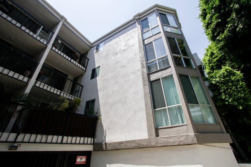 The balconies of Holloway Terrace in West Hollywood
