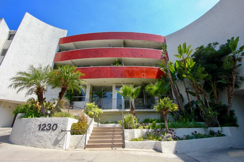 super cool noon shot of Horn Plaza, West Hollywood, California