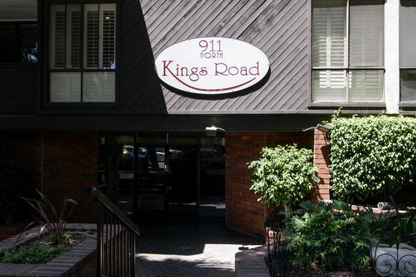The sign for Kings Point on the building in West Hollywood