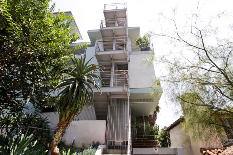 The balconies at La Cienega Lofts in West Hollywood
