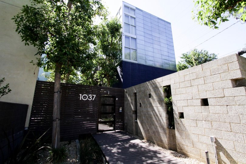 The address of Laurel Court Lofts in West Hollywood