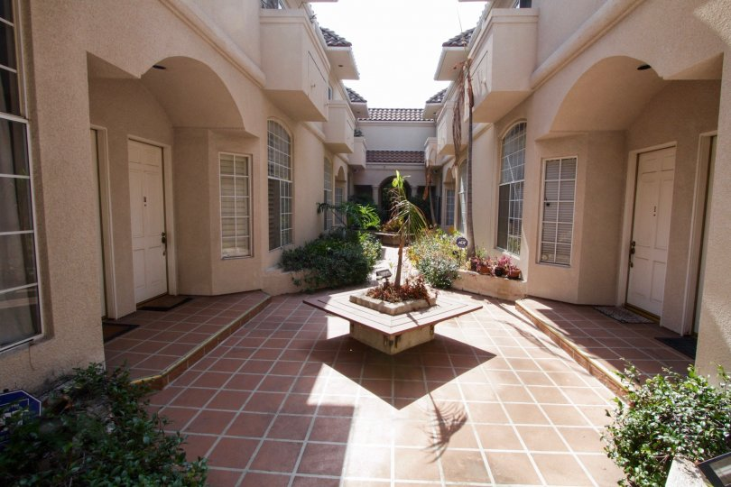 The common area of Martel Townhomes in West Hollywood