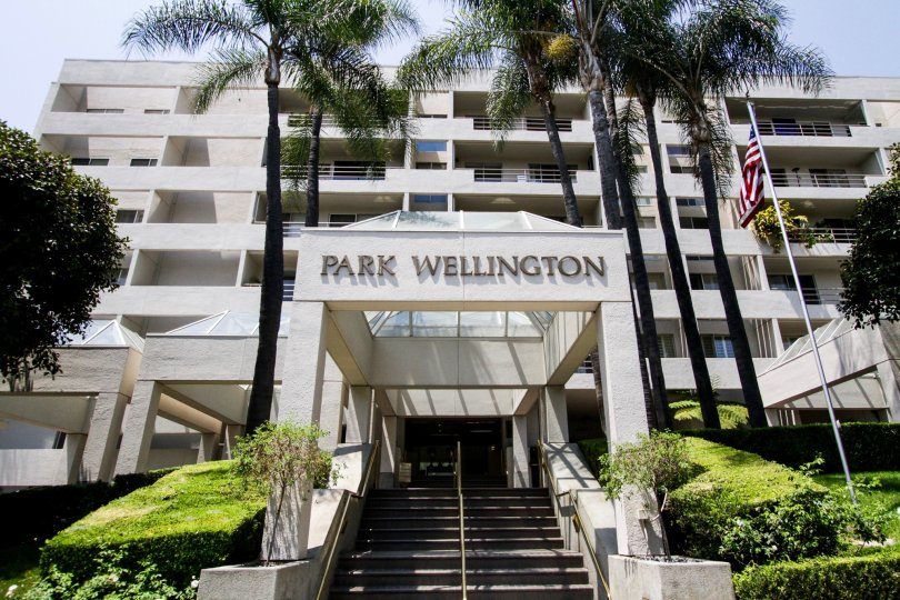 The name of Park Wellington upon entering the building
