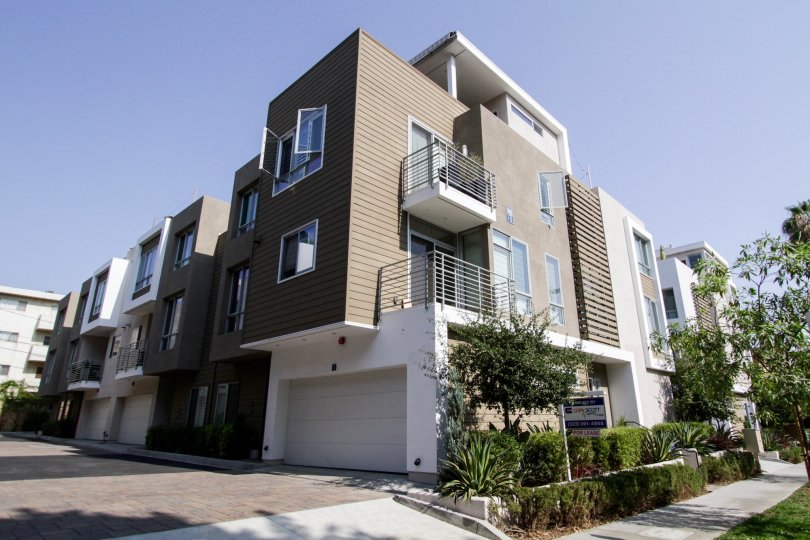 The balcony on units within Row3 in West Hollywood