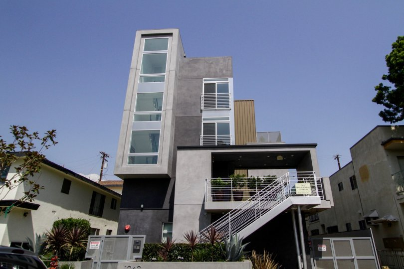 The view of Ten40 North Spaulding in West Hollywood