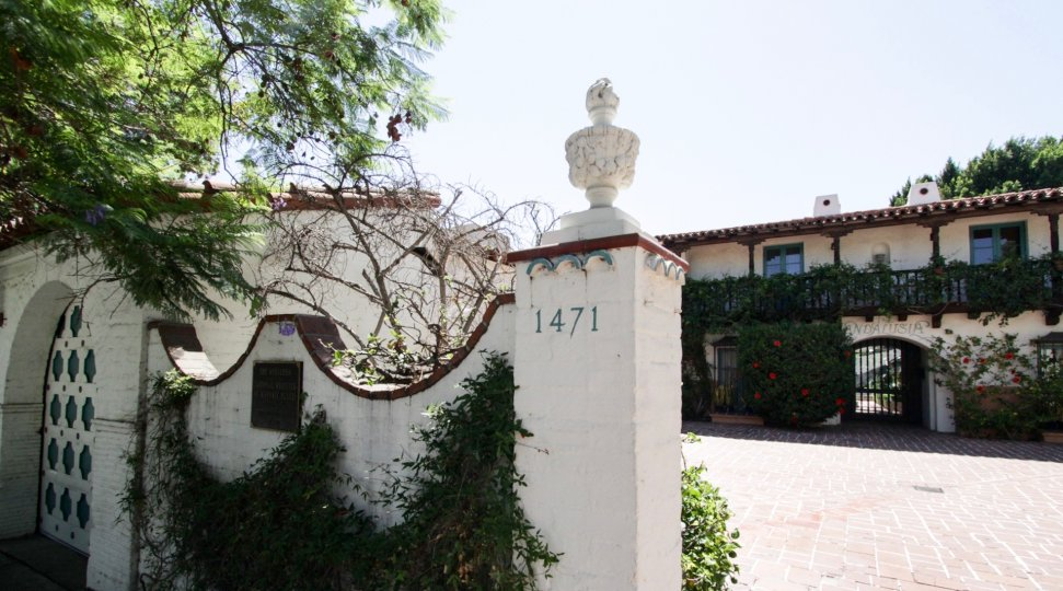 The address of The Andalusia in West Hollywood