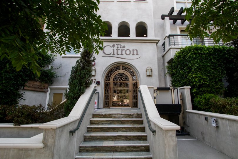 The stairs leading up to The Citron in West Hollywood