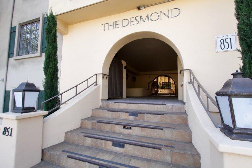 The Desmond name written above the entrance