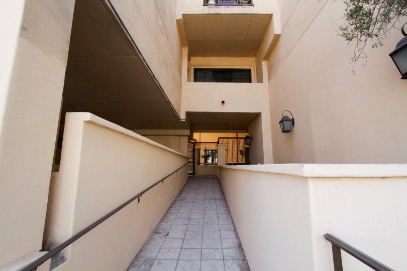 The walkway through The Desmond