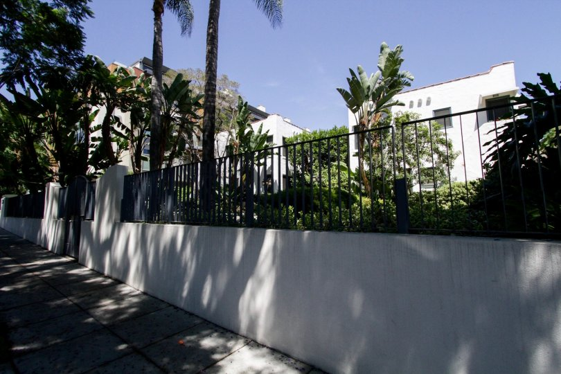 The fence around The Harper in West Hollywood
