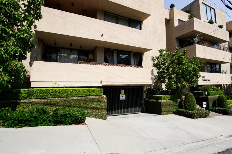 The parking for Wetherly Terrace in West Hollywood