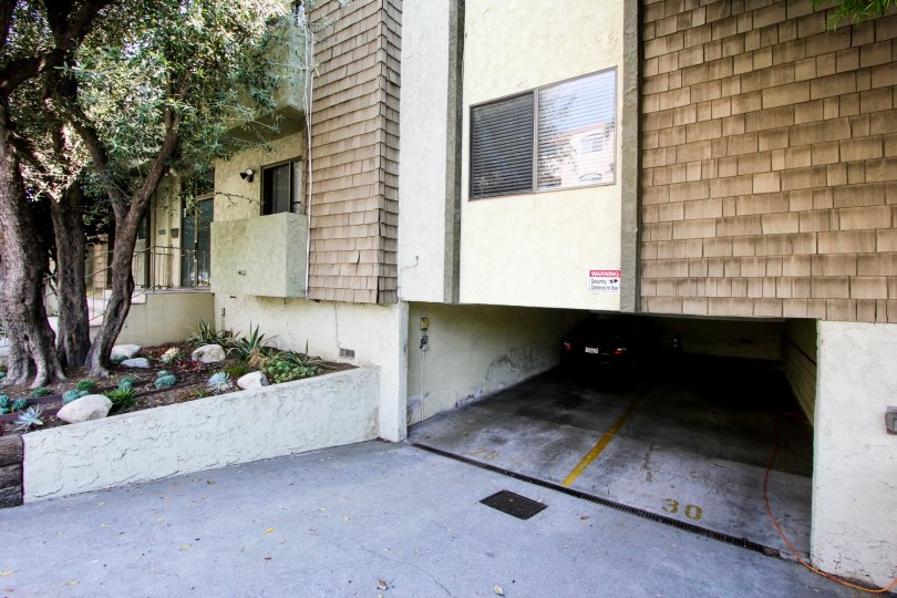 Underground parking for two cars at Aspen House community in West LA, California