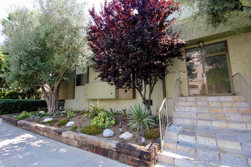 Entrance to a beautiful Aspen House apartment, West La, California