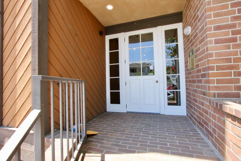 barry court west LA california home front door brick entryway