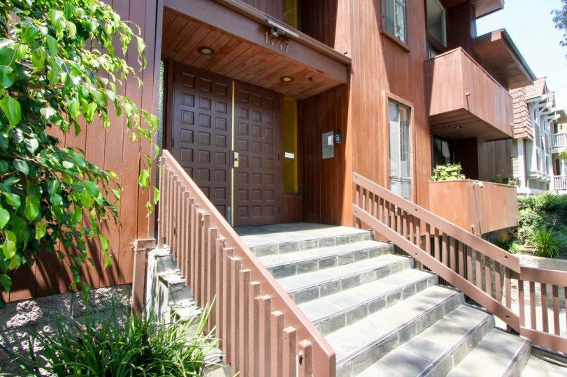 Clean view street view with full details of apartment 1747 Barry West, West La, California
