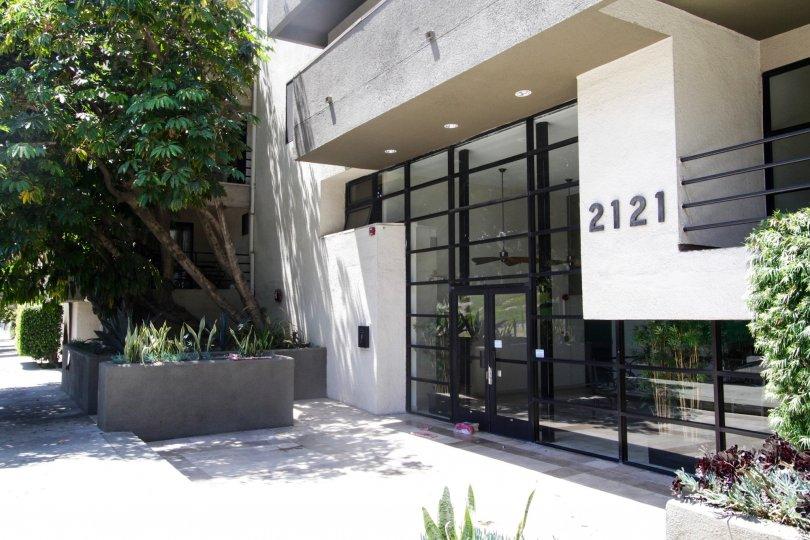 The main entrance of Beloit Place in West LA