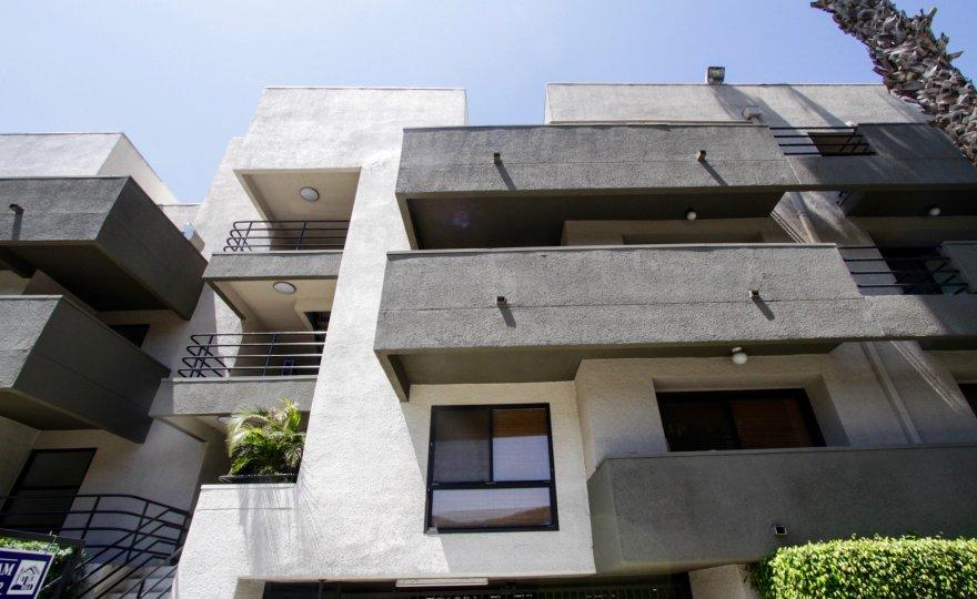 The balconies of Beloit Place in West LA