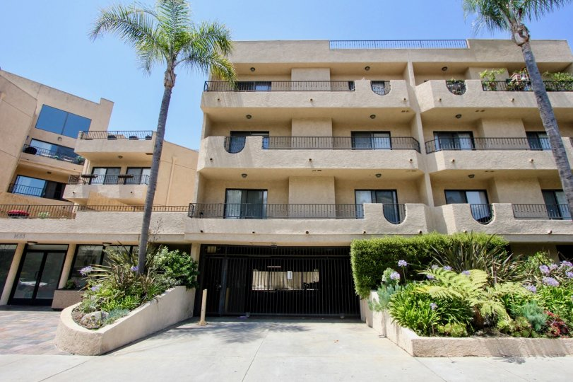 Modern Condo fronted by Palm Trees located in Bentley Regency, West LA