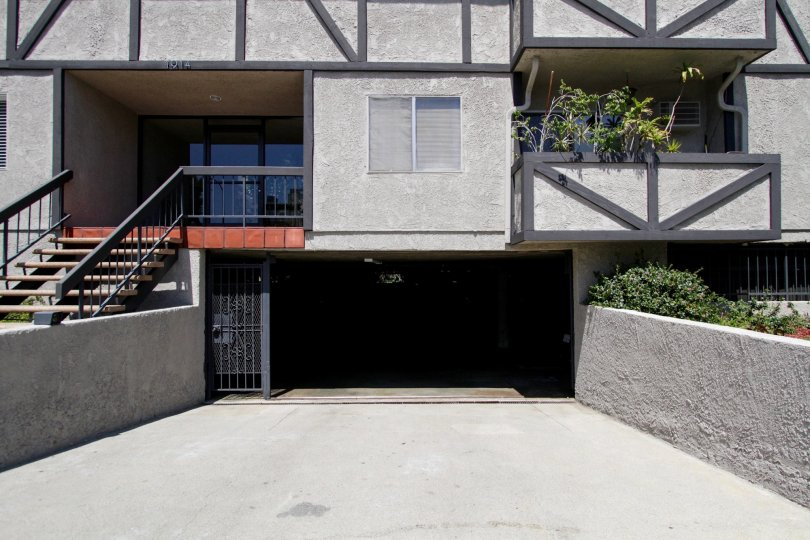 The parking within Corinth Condominiums of West LA