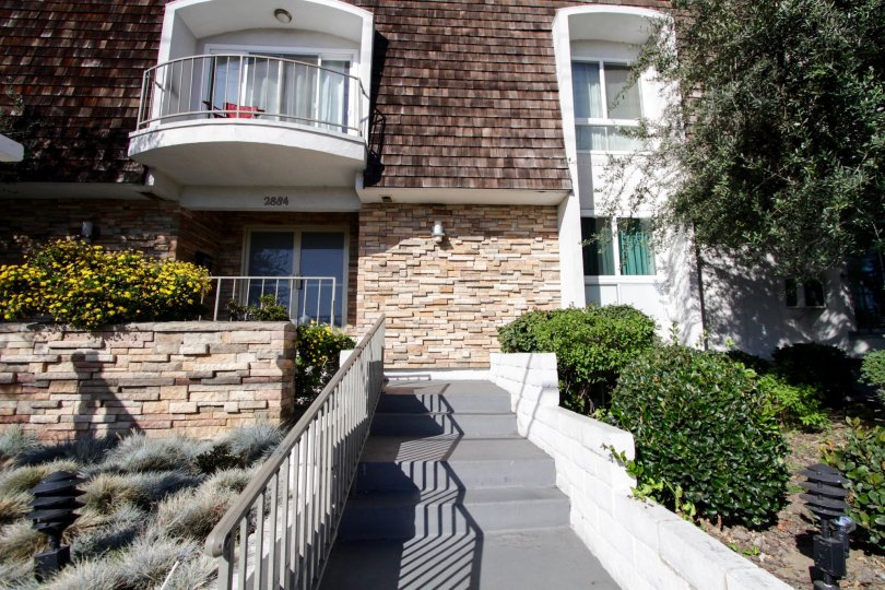The stairs  leading up to Sawtelle Living