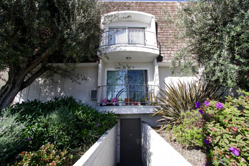 The balconies of the units in Sawtelle Living