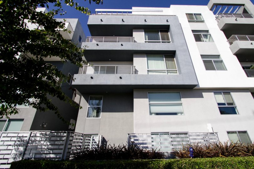 The view of the units of Soho Square in West LA