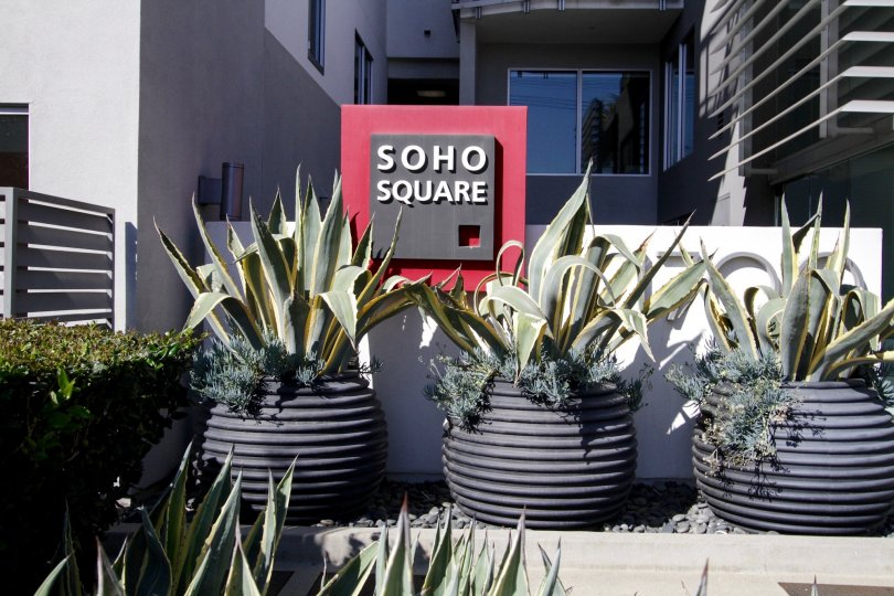 The sign announcing Soho Square