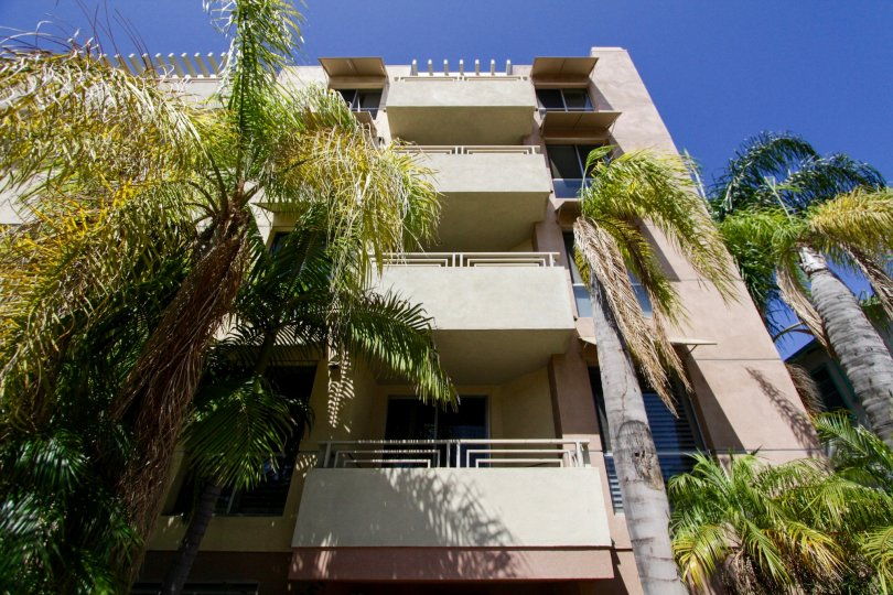 The balconies of units in The Courtyard Villas