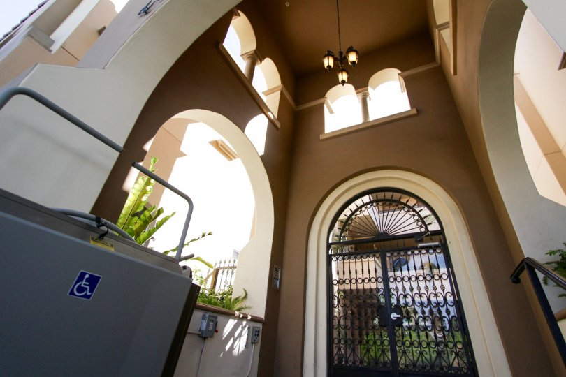 The decorative entryway into the Tuscan Sun of West LA