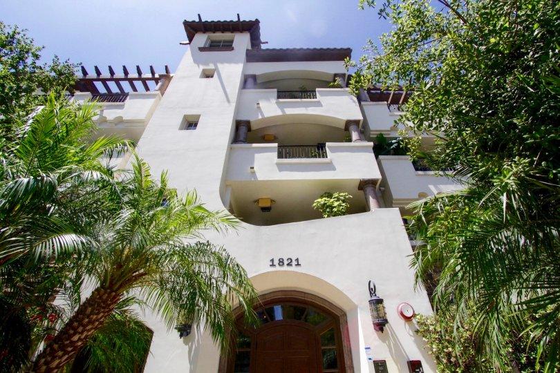 The balconies at Westwood Fairburn of West LA