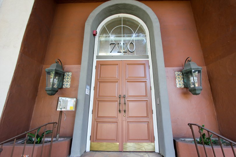 The double doors into the Capri Villas