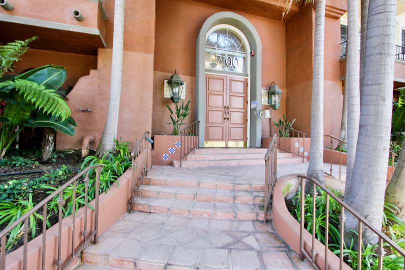 The entryway into Capri Villas