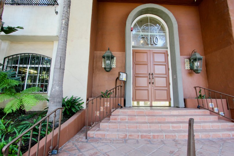The doors into Capri Villas in Westchester, California