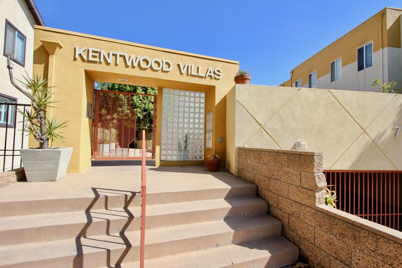 The name of Kentwood Villas above the entrance