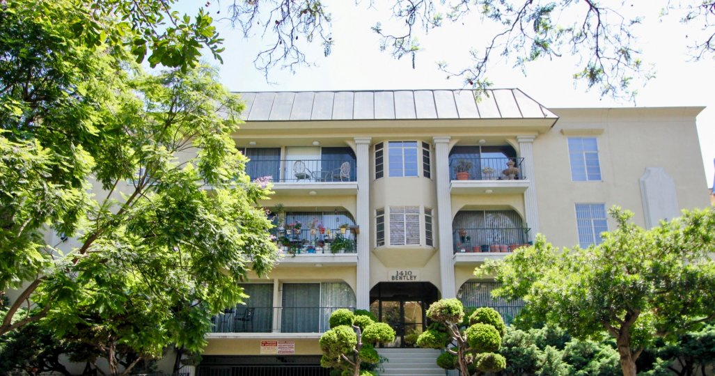 Great views and private balconies at 1410 Bentley in Westwood.