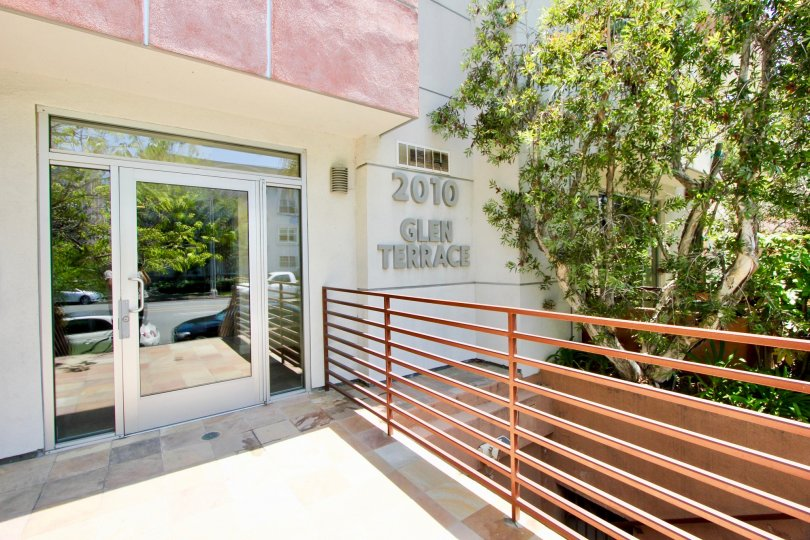 Sleek and modern styling greet you at the dooway of 2010 Beverly Glen Terrace in Westwood California.