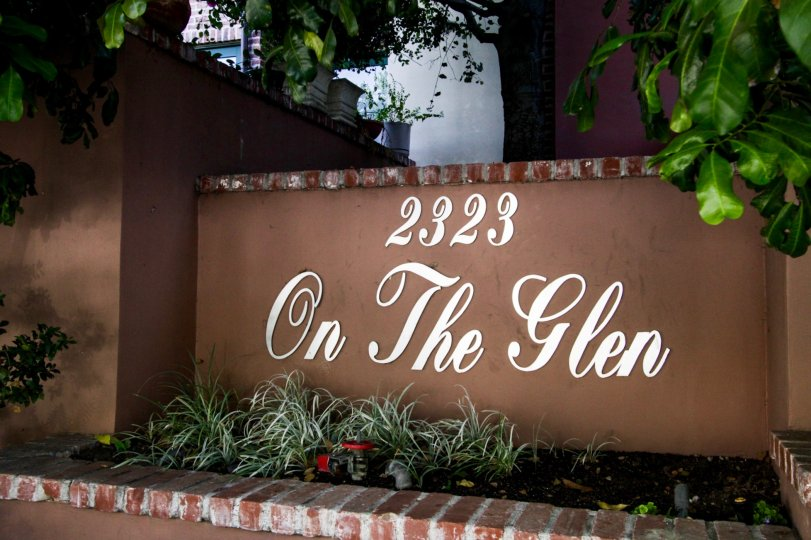 The sign at 2323 On The Glen in Westwood