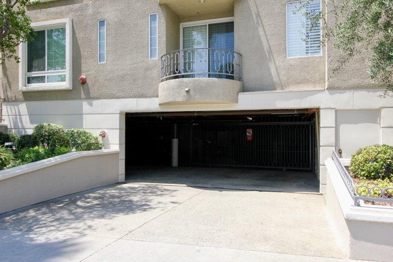 Beverly glen apartment have underground car parking facility and glass window.