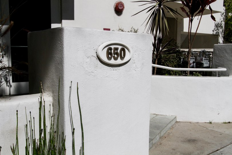 The address number at 650 Kelton in Westwood