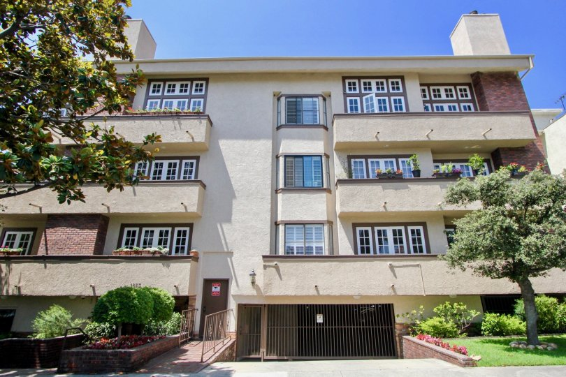 Gated and secure 3 story apartment complex with garage and ample outdoor space in beautiful Bentley Oaks, California