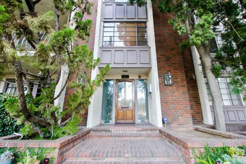 Classy brick walls of Century Villa, Westwood, California