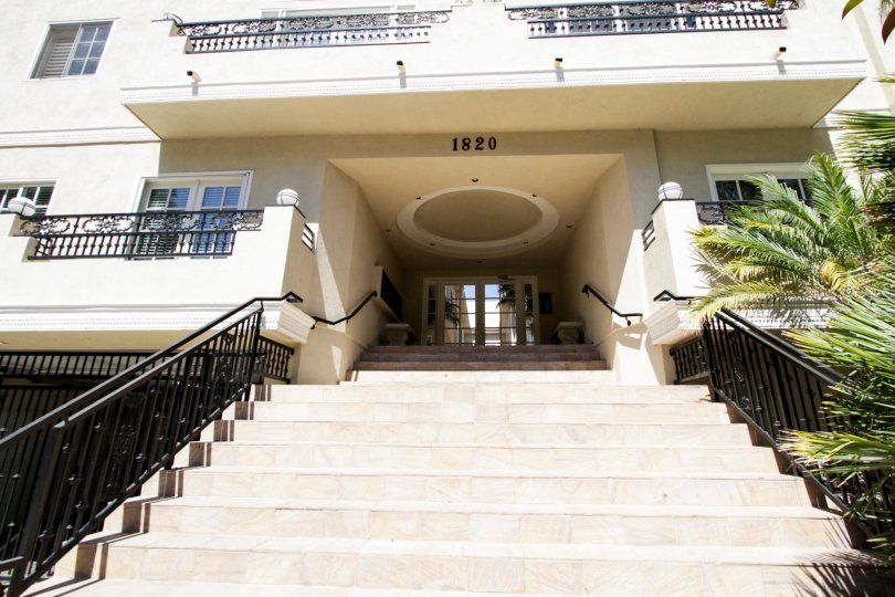 The stairs into Holmby Hills Townhomes