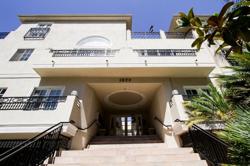 The entrance into Holmby Hills Townhomes