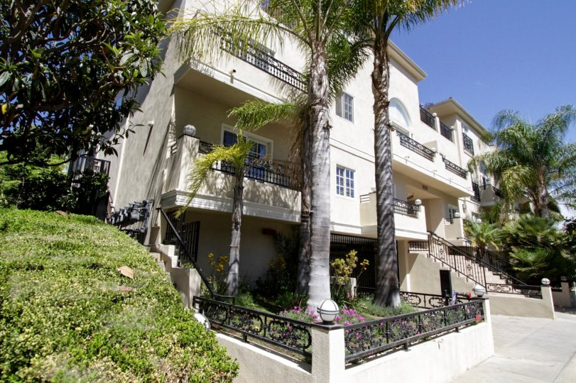 The balconise seen at Holmby Hills Townhomes
