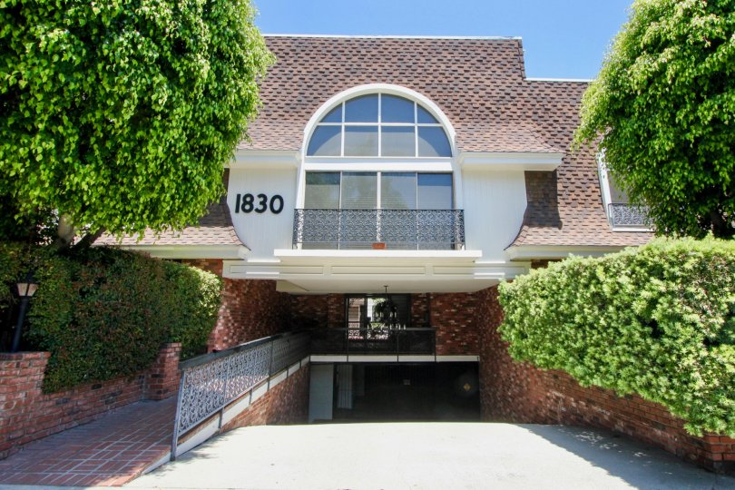 THE KELTON PLAZA IS IN THE CITY OF WESTWOOD AND IN THE STATE OF CALIFORNIA. NO 1830 IS WRITEN ON THE WALL