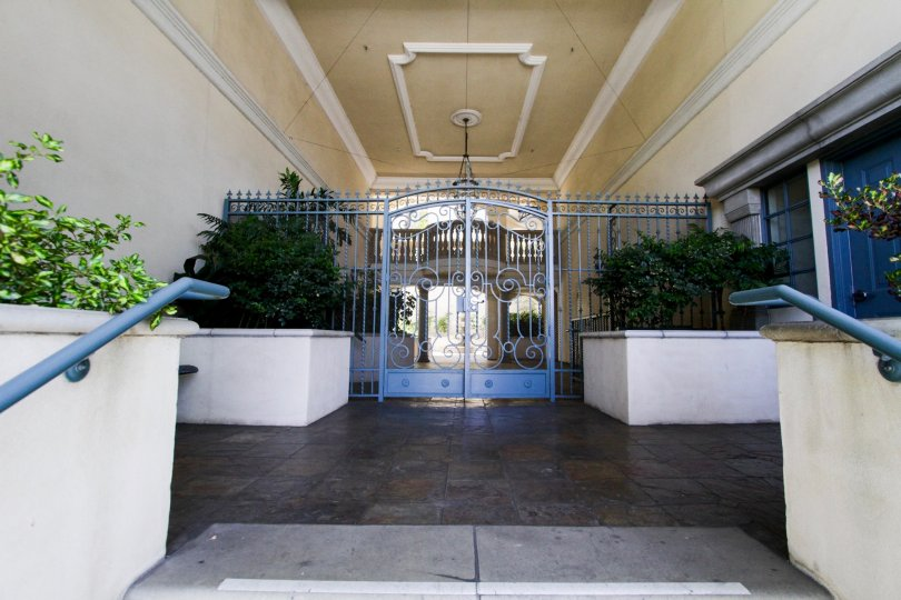 The entrance into Malcolm Villas in Westwood