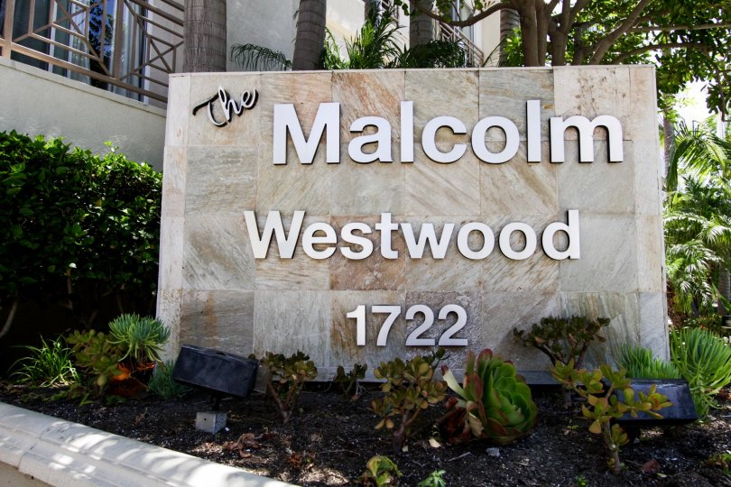 The sign entering into the Malcolm Westwood located in Westwood