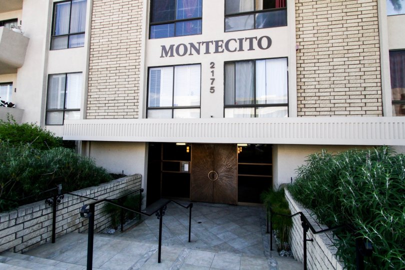 The Montecito name on the building