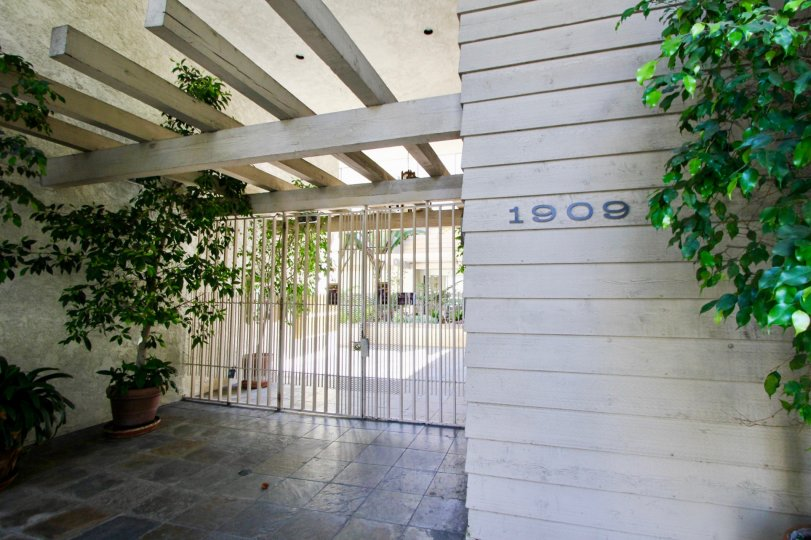 Marble floor entrance to 1909 Pelham Terrace, Westwood, California