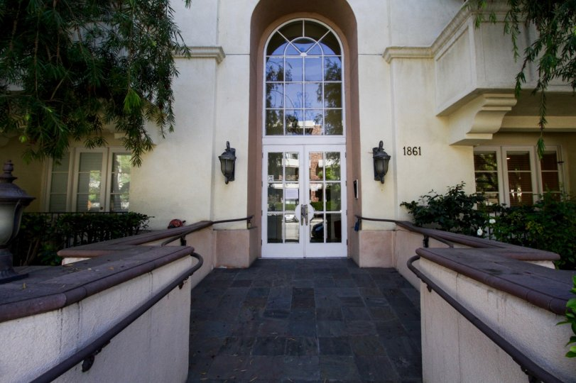 The entrance into the Regency at Veteran in Westwood